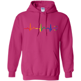 Rainbow Heartbeat pink color LGBT Pride sweatshirt for women
