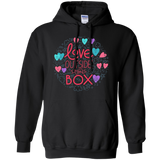 Love Outside The Box black unisex hoodie LGBT Pride black unisex hoodie