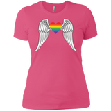 Gay Pride Guardian Angel pink Shirt for women LGBT Guardian Angel Tshirt for womens