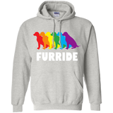 FURRIDE....Pride grey long sleeves hoodie for men & women | pet lover tshirt