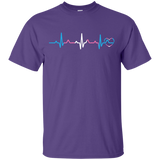 Trans Pride Heartbeat purple T Shirt for men