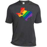 Rainbow Texas Pride dark grey Shirt for men texas print on mens shirt