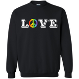 Love Peace Gay Pride unisex sweatshirt Peace symboll black color Unisex sweatshirt