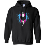 Trans Heart Pride Black full sleeves Hoodie for womens trans womens apparel