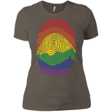 Gay Pride Thumb Print T-Shirt for Women's Rainbow Thumb print women's tshirt