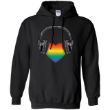 Listen to Your Heart LGBT Pride black hoodie for men & women