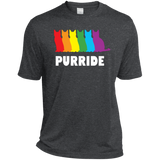 PURRIDE....Pride dark grey half sleeves tshirt for men | pet lover tshirt