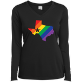 LGBT Pride texas print on black full sleeves women tshirt gay pride womens tshirt