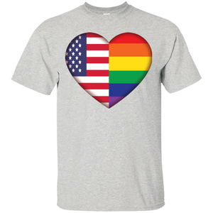 Gay Pride USA Flag Love Shirt LGBT Pride USA Flag tshirt for men