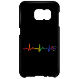 Rainbow Heartbeat Phone Case