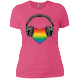 Listen to Your Heart LGBT Pride pink tshirt for women