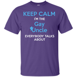 Gay pride Shirt Keep Calm I'm The Gay Uncle quote printed Round neck Shirt