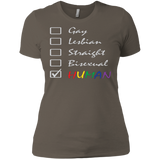 Human Check Box LGBT Pride T Shirt for Women Human Equality LGBT Pride Tshirt for Women