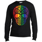 Rainbow Skull black full sleeves T Shirt for men