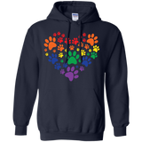 Rainbow Paw Print Love blue unisex sweatshirt