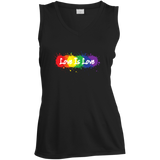 """Love is Love"" black sleeveless T Shirt for women LGBT Pride Equality tshirt for women"