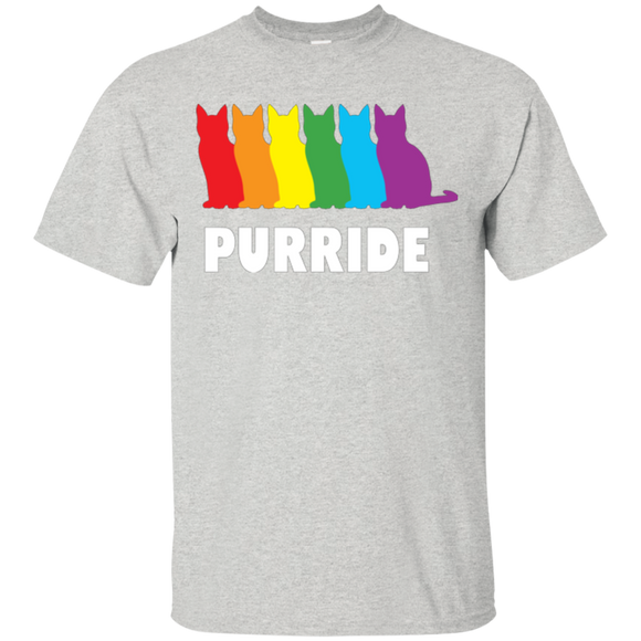PURRIDE....Pride grey half sleeves tshirt for men | pet lover tshirt