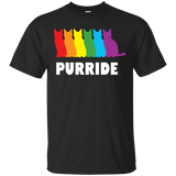PURRIDE....Pride black half sleeves tshirt for men | pet lover tshirt