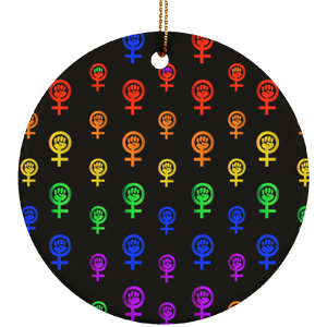 Pride Pattern Circle Ornament