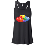Vibrant Heart Gay Pride Black Tank top for Women