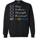Human Check Box LGBT Pride black full sleeves full sleeves Sweatshirt for Men & Women Human Equality LGBT Pride black full sleeves Sweatshirt for Men & Women