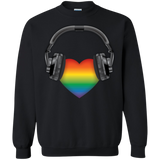 Listen to Your Heart LGBT Pride grey sweatshirt for men & women