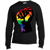 LGBT Pride Unity black long sleeves T shirt for men