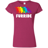 FURRIDE....Pride pink tshirt for women | pet lover tshirt