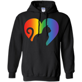 Rainbow Cat Heart LGBT Pride black unisex hoodie| Affordable LGBT  Hoodie for pet lovers