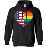 Gay Pride + USA Flag Love Shirt