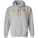 LGBT Pride Pansexual Heartbeat grey full sleeves Hoodie for men & women