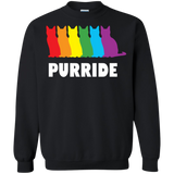 PURRIDE....Pride black long sleeves sweatshirt for men & women | pet lover sweatshirt