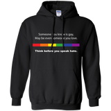 Powerful Gay Pride black  hoodie Ever for men & women
