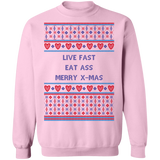 Live Fat Merry Christmas Pull Over