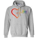 Rainbow Heartbeat Love Grey Hoodie for men & women Gay Pride grey Hoodie for men & women