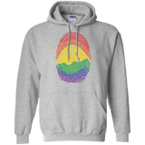 Gay Pride Thumb Print grey Hoodie for men & women Rainbow Thumb print unisex Hoodie
