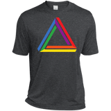 Funky Gay Pride Dark Grey Shirt Rainbow Triangle Gay Pride Tshirt