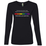 Powerful Gay Pride black  full sleeves tShirt Ever for women