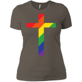 "Exclusive ""Rainbow Cross"" T Shirt"