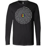 """Pride Month Peace"" Special full sleeves mens Shirt LGBT Pride Black full sleeves tshirt for men"