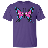 Trans Pride Butterfly purple Shirt for men  | Unique Design Trans Pride Tshirt