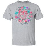 Love Outside The Box grey T Shirt LGBT Pride shirt gay pride round neck tshirt