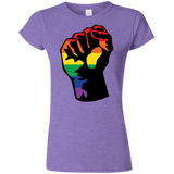 LGBT Pride Unity purple T shirt for women