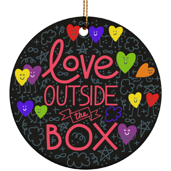 Love Outside The Box Christmas Ornament