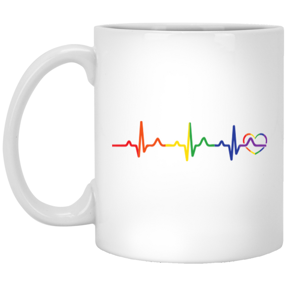 Rainbow Heartbeat Mug