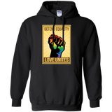 """Defend Equality, Love Unites"" Gay Pride T-shirt Gray Color Round Neck Full Sleeves Digital Print Hoodie"