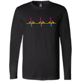 LGBT Pride Pansexual Heartbeat black full sleeves tshirt for Men
