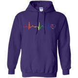 Rainbow Heartbeat purple color LGBT Pride sweatshirt for men