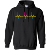 LGBT Pride Pansexual Heartbeat black full sleeves Hoodie for men & women