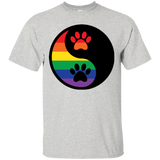 Rainbow Paw Yin Yang Pet Shirt For Men